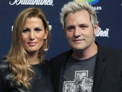 Santiago Cañizares y su esposa Mayte García, en una imagen de 2019.