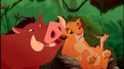 Fotograma de la película 'El rey león'.