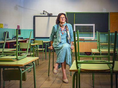 Belén Muñoz, maestra del colegio Pío XII de Madrid, donde agruparán a los niños de distintas edades por niveles.