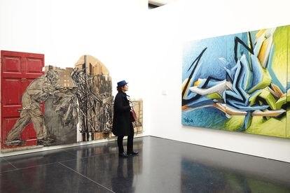 Vista general de la exposición 'Arte callejero - Bansky & Co. L'Arte allo Stato Urbano', en el Palazzo Pepoli Vecchio el 17 de marzo de 2016 en Bolonia, Italia.