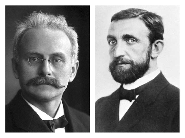 Los físicos nazis Johannes Stark (izquierda) y Philipp Lenard.