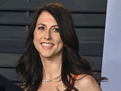 MacKenzie Scott, en marzo de 2018, cuando aún estaba casada con Jeff Bezos, en Beverly Hills.