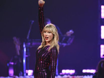 Taylor Swift, en un concierto en Nueva York, el jueves.