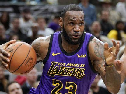 LeBron James, en un Lakers-Spurs.