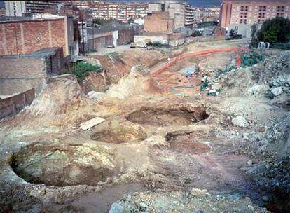 Las excavaciones de 1990 de los silos del poblado ibérico en la montaña de Montjuïc.