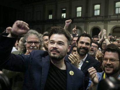 El 'número dos' de ERC, Gabriel Rufián, tras las elecciones del pasado 28 de abril.