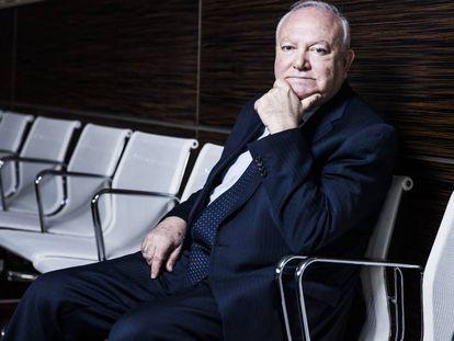Miguel Ángel Moratinos, alto representante de la Alianza de Civilizaciones, durante la entrevista.
