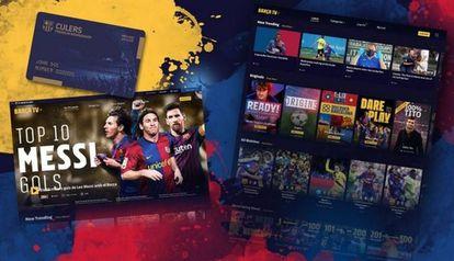 La plataforma digital Barça TV+.