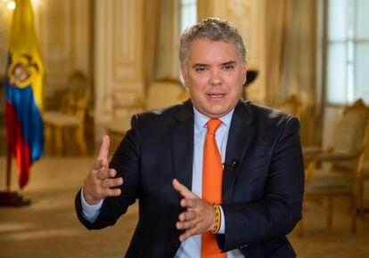 Iván Duque en la Casa de Nariño durante una entrevista con EL PAÍS el pasado mes de junio.