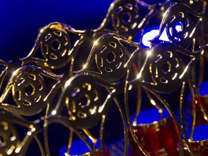 Estatuillas de los premios Iris de la televisión.