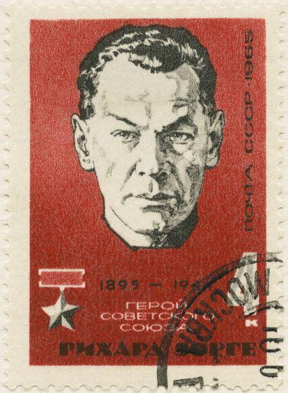 Sello conmemorativo como héroe en la URSS (1965).