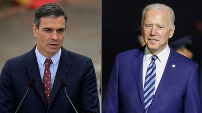 Pedro Sánchez y Joe Biden, este miércoles.