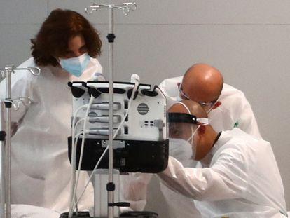 El hospital Isabel Zendal de Madrid, el pasado 11 de enero