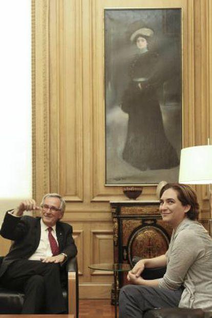 El alcalde Xavier Trias y la líder De Barcelona en Comú, Ada Colau.