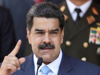 Nicolas Maduro durante una conferencia el pasado marzo.
