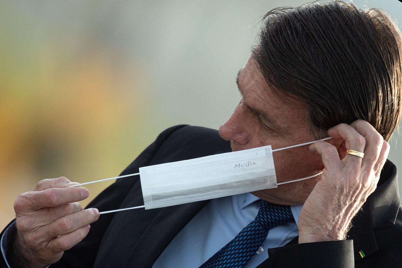 El presidente de Brasil, Jair Bolsonaro, el martes, en el Palacio do Alvorada, en Brasilia.