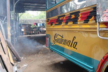 Un autobús, en Ciudad de Guatemala.