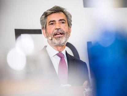 El presidente del CGPJ, Carlos Lesmes, el pasado 26 de mayo.