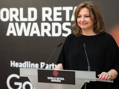 Marta Álvarez en la entrega del premio en el World Retail Congress 2018.