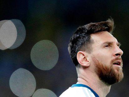 Messi, en el partido ante Brasil.