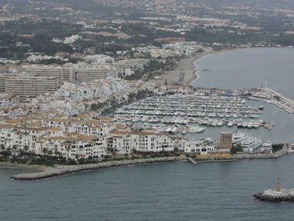Vista aérea de Marbella (Málaga).