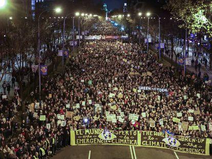 Marcha a favor de la lucha contra el cambio climático en Madrid.