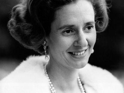 La reina Fabiola de Bélgica.