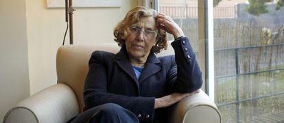 La juez Manuela Carmena en su casa.