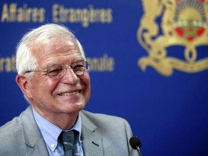 El ministro de Exteriores, Josep Borrell, el 3 de junio en Rabat.