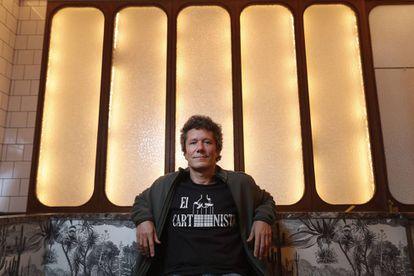 Manuel Guzmán en el Café Comercial de Madrid