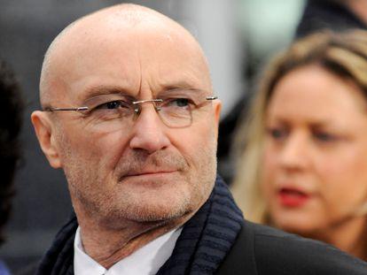Phil Collins en la presentación de la película 'Mirror Mirror', protagonizada por su hija Lily Collins, en Los Angeles.
