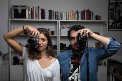 Marta Aquero y Cristóbal Benavente posan en Sales de Plata.