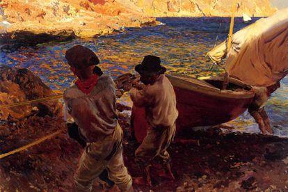'Fin de jornada' (1900), el óleo pintado en Jávea por Joaquín Sorolla que la familia desea vender y que se expone en la National Gallery.