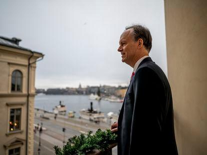 El médico estadounidense William Kaelin, fotografiado en Estocolmo en diciembre de 2019.