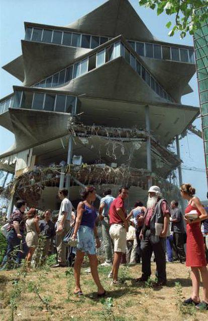 Protestas en julio de 1999 por el derribo de La Pagoda.