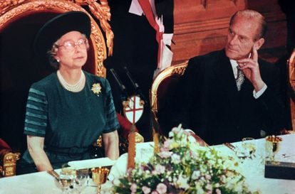 Isabel II, durante el discurso del 'annus horribilis', el 24 de noviembre de 1992,