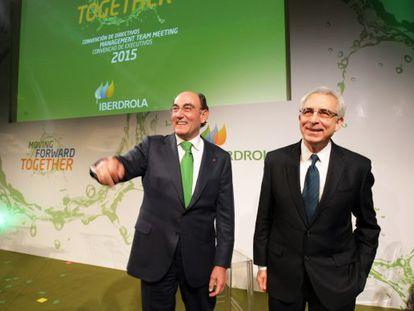 Sánchez Galán, a la izuqierda, junto al expresidente mexicano Ernesto Zedillo.