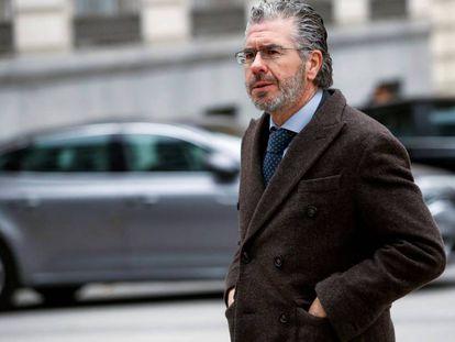 El exconsejero madrileño Francisco Granados, a su llegada a la sede de la Audiencia Nacional, el pasado 27 de febrero.