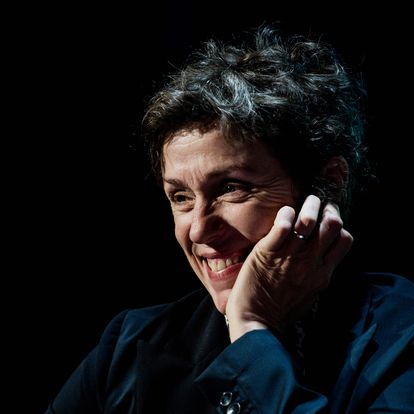(FILES) In this file photo taken on October 14, 2019 US actress Frances McDormand gives a masterclass during the 11th edition of the Lumiere Film Festival, in Lyon, central eastern France. - Anthony Hopkins and Frances McDormand are the biggest names on the Bafta film awards shortlist, released on March 9, 2021, which includes a diverse raft of actors and directors following criticism last year. (Photo by JEFF PACHOUD / AFP)