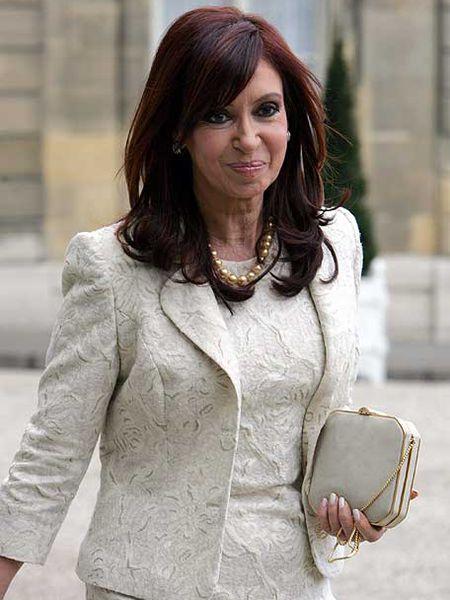 Cristina Fernández, el lunes en París.
