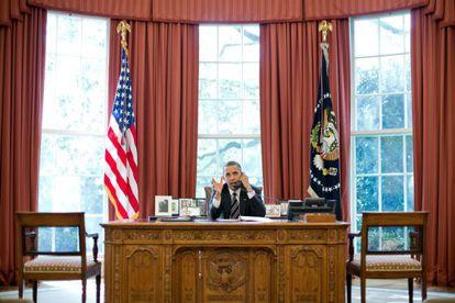 Barack Obama, en el Despacho Oval de la Casa Blanca.