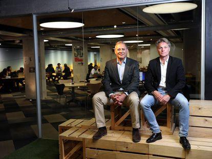 José Alemany, fundador de Funds Link, y Hans Svanbom, creador de Swan Water Solutions, a la derecha.