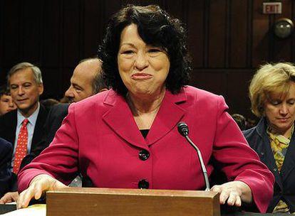 La nueva juez del Tribunal Supremo de EE UU, la hispana Sonia Sotomayor