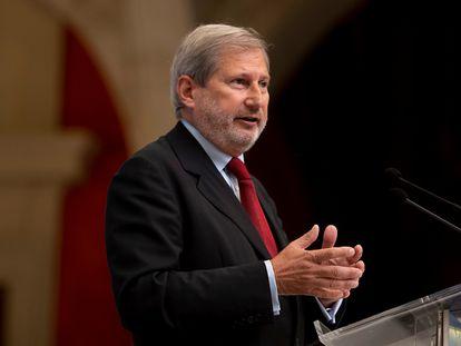 El comisario europeo de Presupuestos y Administración, Johannes Hahn.
