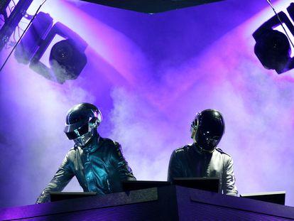 Daft Punk, en una actuación el festival de Coachella, en Indo (California), en 2006