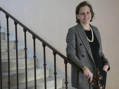 Anne Applebaum, este jueves, en Madrid.