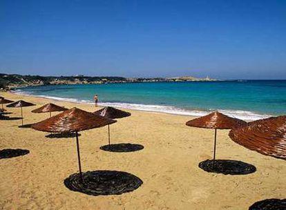Una de las playas de la península de Karpas,  extensa lengua de tierra al noreste de la isla de Chipre.