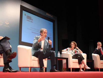 El expresidente José Luis Rodríguez Zapatero, en Córdoba.