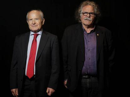 José Montilla (izquierda) y Joan Tardà, antes de iniciarse el debate.