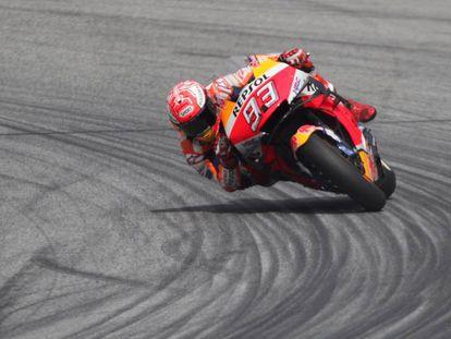 Marc Márquez durante el Gran Premio de Austria de MotoGP 2019.